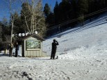 Skiing and snowboarding at Lemmon Mtn